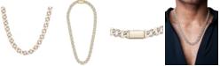 "Macy's Men's Diamond Link 20"" Chain Necklace (1/2 ct. t.w.) in 10k Gold"