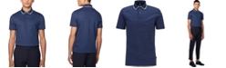 Hugo Boss BOSS Men's Pitton 17 Open Blue Polo Shirt