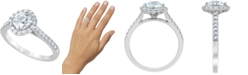 Macy's Diamond Halo Engagement Ring (1-3/8 ct. t.w.) in 14k White Gold
