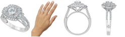 Macy's Diamond Multi-Halo Engagement Ring (1-1/4 ct. t.w.) in 14k White Gold