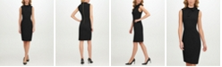 Calvin Klein Scuba-Crepe Tie-Neck Sheath Dress