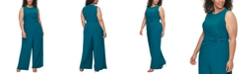 Vince Camuto Plus Size Ruched O-Ring Jumpsuit