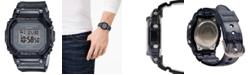 G-Shock Women's Digital Gray Jelly Strap Watch 40x40mm