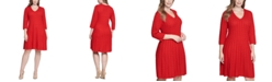 Jessica Howard Plus Size Cable-Knit Fit & Flare Dress