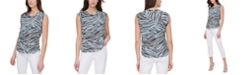 DKNY Printed Sleeveless Top