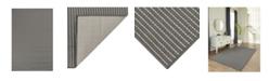 """Liora Manne' Liora Manne Carmel Texture Stripe Gray 8'10"""" x 11'9"""" Area Rug"""