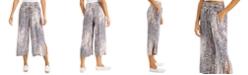 Rewash Juniors' Smocked Cropped Wide-Leg Pants