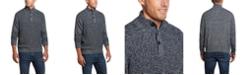 Weatherproof Vintage Men's Button Mock Marl Sweater