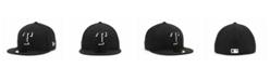 New Era Texas Rangers Black and White Fashion 59FIFTY Cap