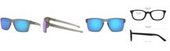 Oakley Men's Rectangle Sunglasses, OO9341 57 Sliver Xl