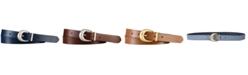 Lauren Ralph Lauren Newbury Saffiano to Smooth Reversible Belt