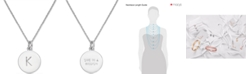 "kate spade new york  Silver-Tone Disc Initials 18"" Pendant Necklace"