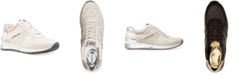 Michael Kors Allie Wrap Trainer Signature Logo Sneakers
