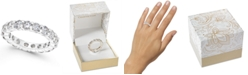 Charter Club Crystal All-Around Ring in Fine Silver Plate, Created for Macy's