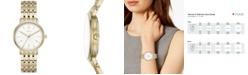 DKNY Women's Minetta Gold-Tone Stainless Steel Bracelet Watch 36mm, Created for Macy's