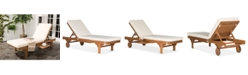 Safavieh Jenne Outdoor Lounge with Side Table, Quick Ship