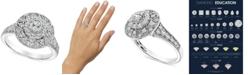 Macy's Diamond Filigree Halo Engagement Ring (1 ct. t.w.) in 14k White Gold