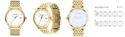Movado Women's Swiss Heritage Series Calendoplan Gold-Tone Stainless Steel Bracelet Watch 36mm