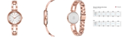 Citizen Women's Eco-Drive Axiom Pink Gold-Tone Stainless Steel Bracelet Watch 28mm