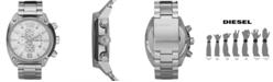 Diesel Men's Chronograph Stainless Steel Bracelet Strap Watch 49x46mm DZ4203