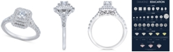 Macy's Diamond Elevated Halo Engagement Ring (1 ct. t.w.) in 14k White Gold