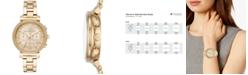 Michael Kors Women's Chronograph Sofie Gold-Tone Stainless Steel Bracelet Watch 39mm