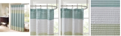 """Madison Park Amherst 72"""" x 72"""" Colorblocked Faux-Silk Shower Curtain"""