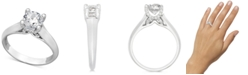 X3 Diamond Solitaire Engagement Ring in 18k White Gold (1-1/4 ct. t.w.), Created for Macy's
