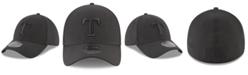 New Era Texas Rangers Blackout 39THIRTY Cap
