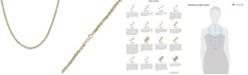 """Macy's Italian Gold Rope 20"""" Chain Necklace (3-3/4mm) in 14k Gold, Made in Italy"""