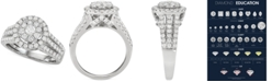 Centennial Diamond Halo Cluster Engagement Ring (1-1/2 ct. t.w.) in 14k White Gold