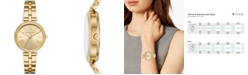 Michael Kors Women's Maci Gold-Tone Stainless Steel Bracelet Watch 34mm, First at Macy's