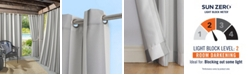 "Sun Zero Valencia 54"" X 84"" Cabana Stripe Indoor/Outdoor UV Protectant Curtain Panel"