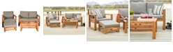 Walker Edison Outdoor Classic Contemporary Open Side 4-Piece Outdoor Patio Chat Set