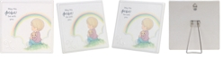 Precious Moments May His Peace Be With You Boy With Rainbow Wall Plaque