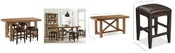 Furniture Brewing Collection, 5-Pc. Furniture Set (Gathering Table & 4 Lager Gathering Stools)