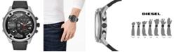 Diesel Men's Boltdown Black Leather Strap Watch 56mm