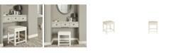 Crosley CLOSEOUT! Vista Vanity Stool With Vinyl