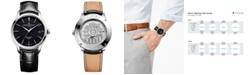Baume & Mercier Men's Swiss Automatic Clifton Baumatic Black Alligator Leather Strap Watch 40mm