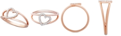 Wrapped Diamond Heart Ring (1/10 ct. t.w.) in 14k Rose Gold, Created for Macy's