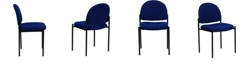 Flash Furniture Comfort Navy Fabric Stackable Steel Side Reception Chair