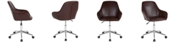 Flash Furniture Cortana Home And Office Mid-Back Chair In Brown Leather