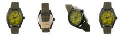 Morphic M59 Series, Olive Case, Olive Leather Overlaid Canvas Band Watch, 44mm