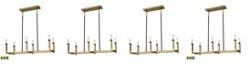 ELK Lighting Mandeville 6 Light Chandelier in Satin Brass with Oil Rubbed Bronze Accents