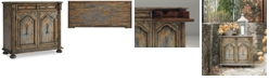 Furniture Celeste Two-Door Two-Drawer Chest w/Bun Feet