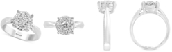 EFFY Collection EFFY® Diamond Cluster Engagement Ring (5/8 ct. t.w.) in 14k White Gold