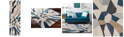 """Surya Cosmopolitan COS-9278 Bright Blue 2'6"""" x 8' Runner Area Rug"""