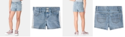 Epic Threads Toddler Girls Lace-Trim Denim Shorts, Created for Macy's