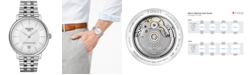 Tissot Men's Swiss Automatic T-Classic Carson Powermatic 80 Stainless Steel Bracelet Watch 40mm