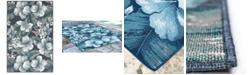 "Liora Manne' Riviera 7649 Tropical Flower 3'3"" x 4'11"" Indoor/Outdoor Area Rug"
